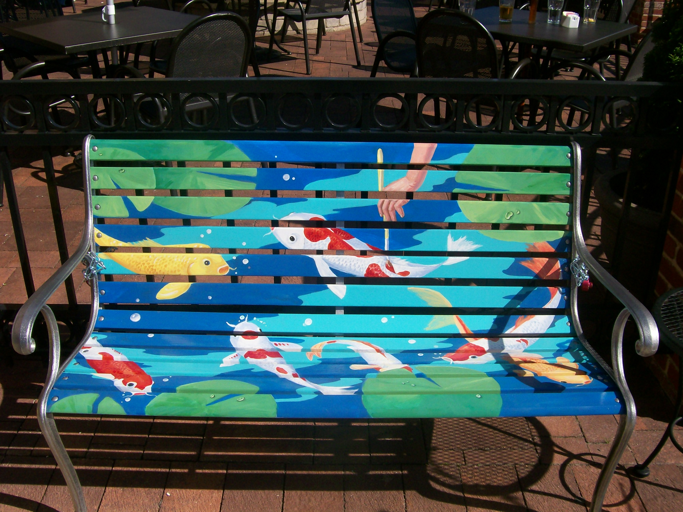Faux painting a chicagoland park bench painting in for Decorative mural