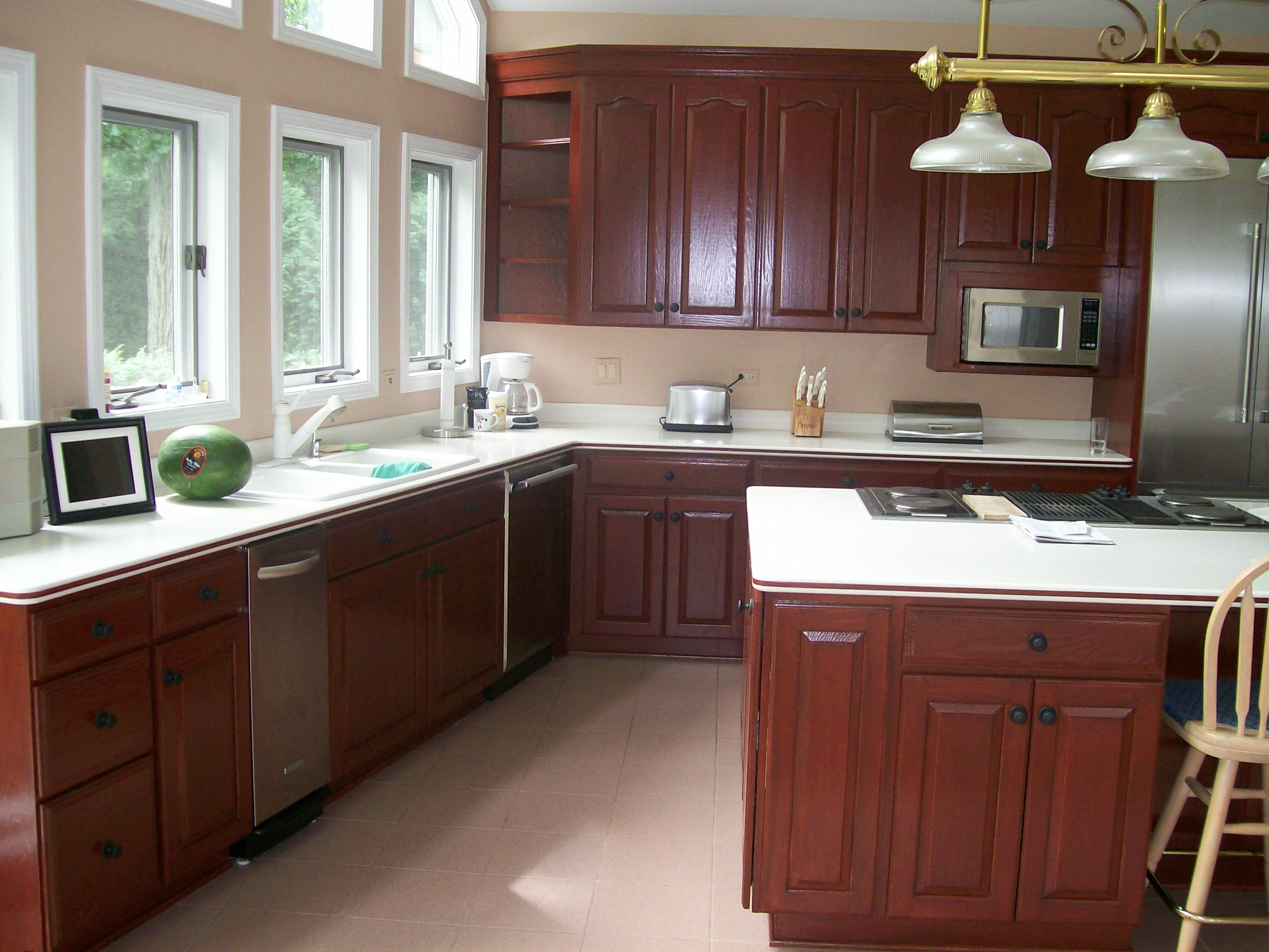 Painting mobile home cabinets home painting ideas for Painting kitchen cabinets