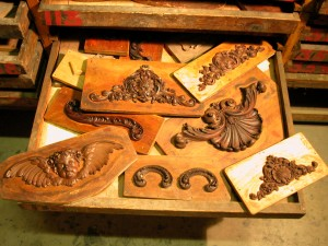 Tray of Walnut Carvings