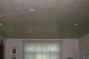 Venetian Plaster Ceiling in Vintage Art Deco Living Room