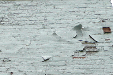peeling paint and spalling on painted brick - Painted Brick