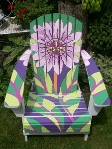 Art Deco Adirondack Chair