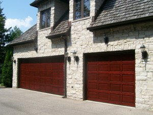 Refinished Garage Doors