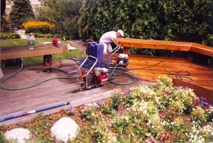 Deck Cleaning Process