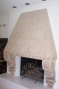 Faux-Painted Fireplace Hood