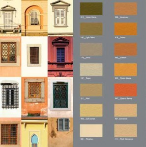 Sample of Clay Paint Colors