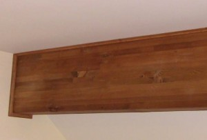 Restored Wood Beam - Stained and Varnished