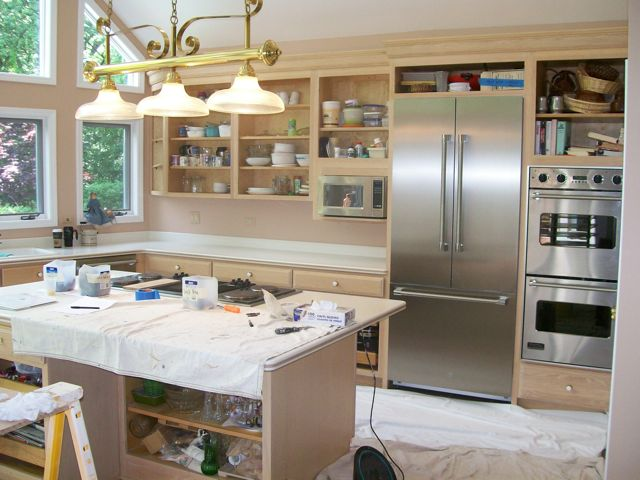 Yourself Step By Step Refinishing Kitchen Cabinets