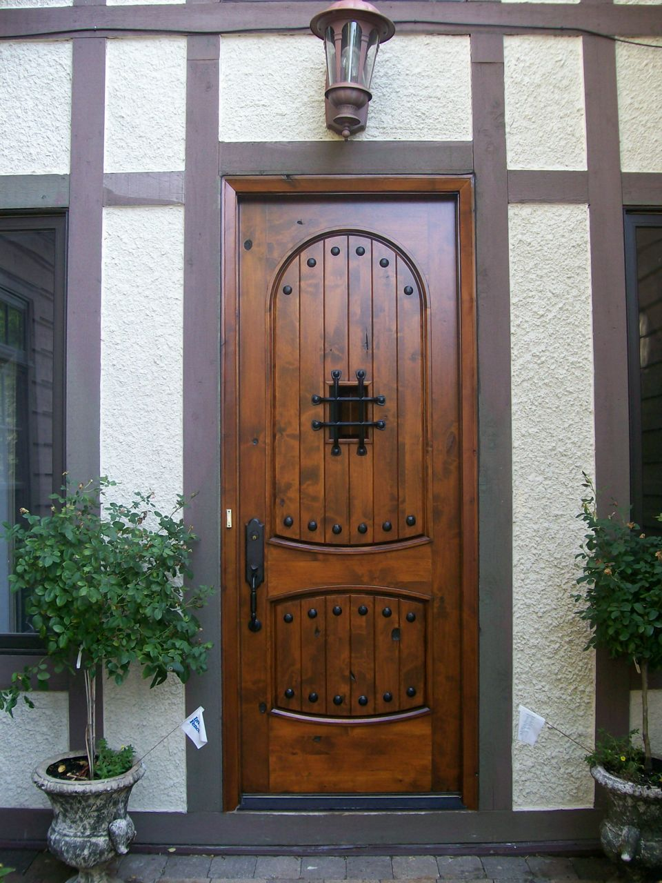 Rescuing a wood front door from the brink painting in for Front entrance doors