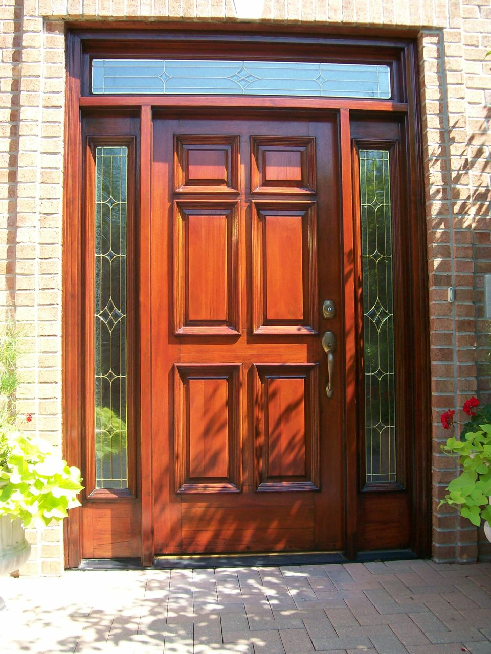 Checking wood doors weather stripping saves money painting in wood front door after refinishing rubansaba