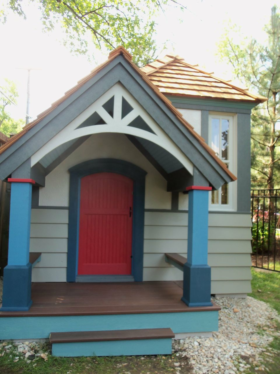 Exterior Meaning: A Red Door For Jonathan's Custom Playhouse