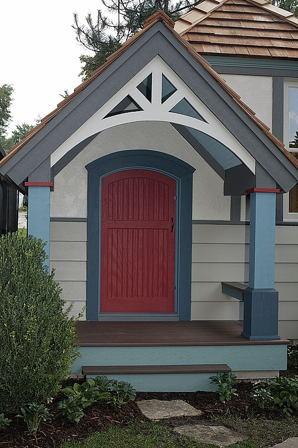 Custom-Painted Playhouse & A Red Door for Jonathanu0027s Custom Playhouse u2013 The Meaning of Red ...