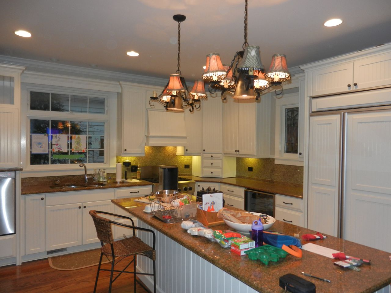 Professionally Hand Painted Kitchen Cabinets