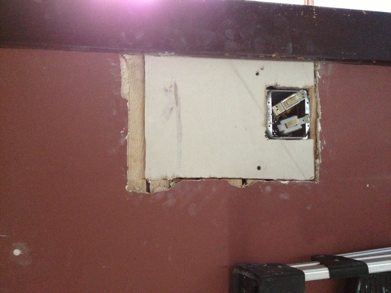 Repairing Plaster In A One Hundred Year Old Farmhouse Painting Wiring