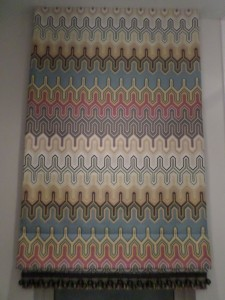 Roman Shade - Missoni Fabric