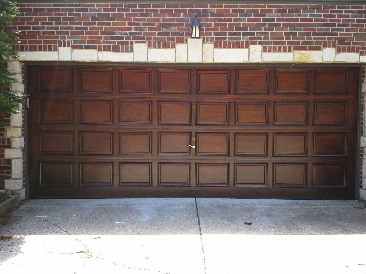 Etonnant Doug Fir Garage Door U2013 Before Refinishing. Doug ...