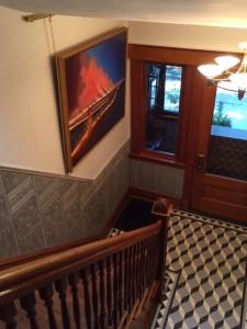Glazed Lincrusta Dado in Stairway 2