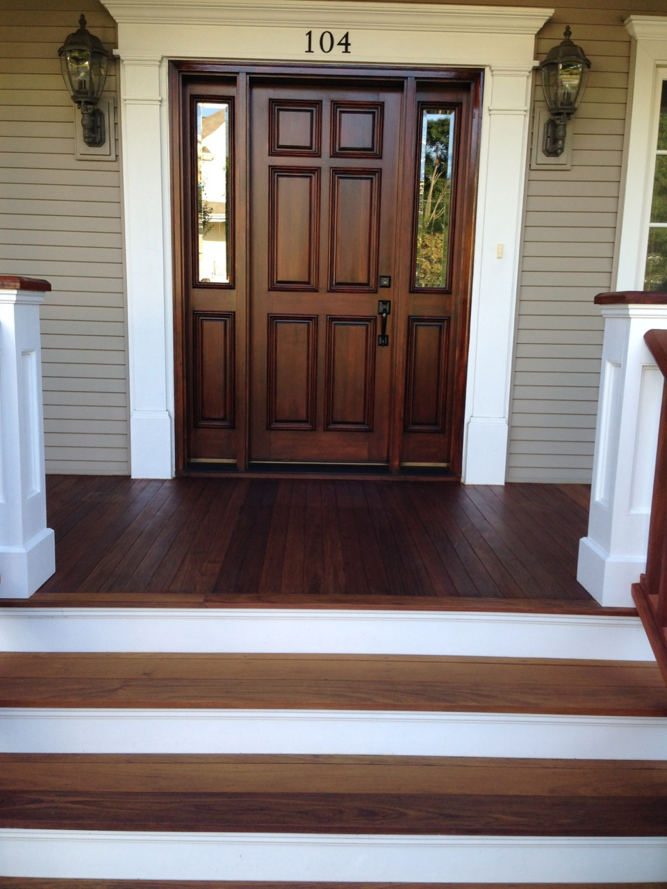 The Refinishing Of An Ipe Wood Front Porch Floor
