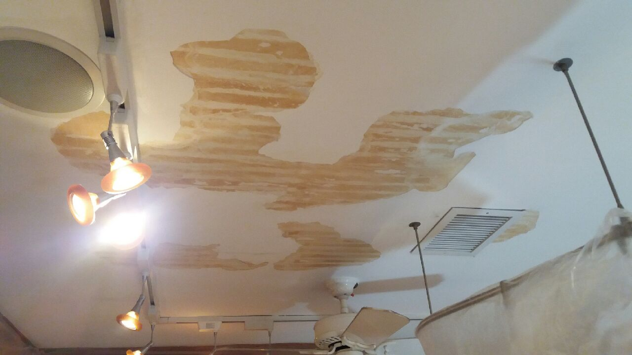 Watch Out For Old Calcimine Paint On The Ceilings Of Your
