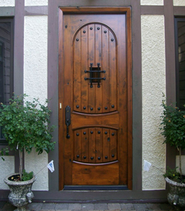 Beautifully Refinished Wood Front Door